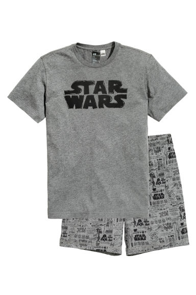 Pyjamas T-shirt and shorts - Dark grey/Star Wars  - Men | H&M CN 1