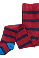 2-pack tights - Burgundy/Striped - Kids | H&M CN 3