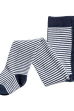 2-pack tights - Dark blue/Striped - Kids | H&M CN 3