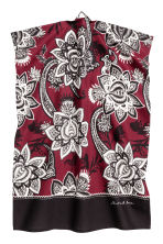 Paisley-patterned tea towel - Burgundy - Home All | H&M CN 1