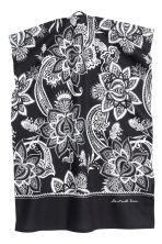 Paisley-patterned tea towel - Anthracite grey - Home All | H&M CN 1