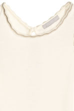 Vest top with a scalloped trim - Natural white - Ladies | H&M CN 3