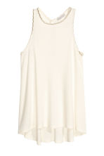 Vest top with a scalloped trim - Natural white - Ladies | H&M CN 2