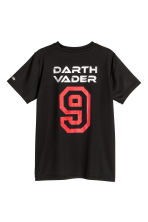Short-sleeved sports top - Black/Star Wars - Kids | H&M CN 3