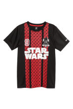 Short-sleeved sports top - Black/Star Wars - Kids | H&M CN 2