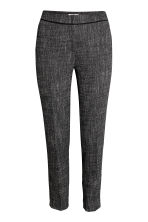 Suit trousers - Black/White marl - Ladies | H&M CA 2
