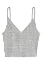 Jersey crop top - Grey marl - Ladies | H&M CN 3