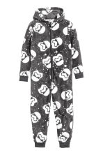Fleece all-in-one suit - Dark grey/Star Wars  - Kids | H&M CN 1