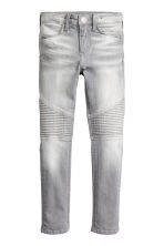 Skinny Fit Biker Jeans - Grey washed out - Kids | H&M CN 2