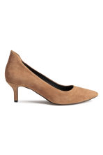 Suede court shoes - Beige - Ladies | H&M CN 1