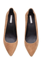 Suede court shoes - Beige - Ladies | H&M CN 2