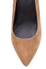 Suede court shoes - Beige - Ladies | H&M CN 3