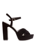 Sandali con plateau - Nero -  | H&M IT 2