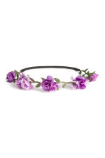 Hairband with flowers - Purple - Ladies | H&M CN 1