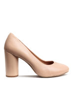 Leather court shoes - Light beige - Ladies | H&M CN 1