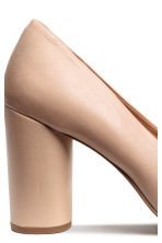 Leather court shoes - Light beige - Ladies | H&M CN 4