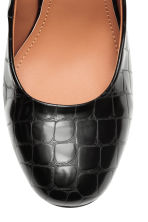Crocodile-pattern court shoes - Black - Ladies | H&M CN 3