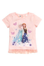 Top with a tulle frill - Light pink/Frozen - Kids | H&M CN 2