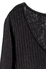 Knitted jumper with side slits - Black - Ladies | H&M CN 3
