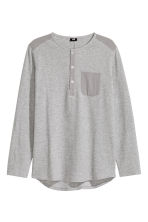Jersey Henley shirt - Grey marl - Men | H&M CN 2