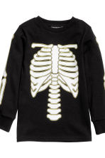 Jersey pyjamas - Black/Skeleton - Kids | H&M CN 3