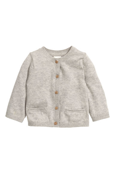Fine-knit cardigan - Grey beige - Kids | H&M CN 1