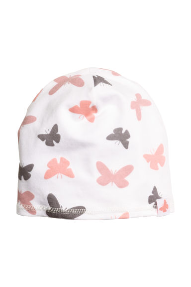 Jersey hat - White/Butterflies - Kids | H&M CN 1