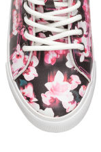 Hi-top trainers - Black/Floral - Kids | H&M CN 3