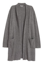 Cashmere cardigan - Dark grey marl - Ladies | H&M CN 2