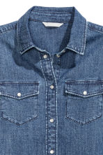 Fitted denim shirt - Denim blue - Ladies | H&M CN 3