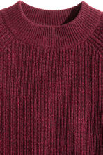 Pullover in maglia a coste - Bordeaux mélange - DONNA | H&M IT 2