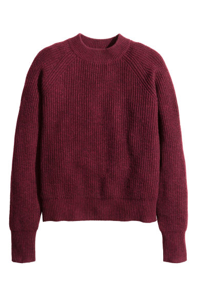 Pullover in maglia a coste - Bordeaux mélange - DONNA | H&M IT 1