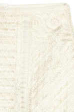 Tape-embroidered skirt - Natural white - Ladies | H&M CN 3