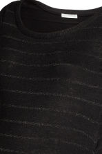 MAMA Fine-knit dress - Black/Glitter - Ladies | H&M CN 3