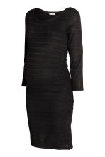 MAMA Fine-knit dress - Black/Glitter - Ladies | H&M CN 2