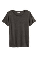 Jersey top - Dark grey marl - Ladies | H&M CN 2