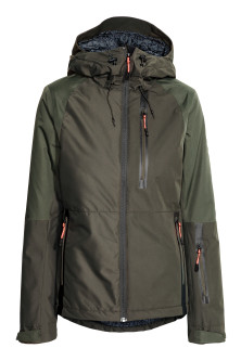 Padded ski jacket