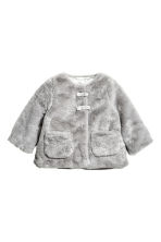 Faux fur jacket - Grey - Kids | H&M CA 1