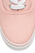 Canvas trainers - Powder pink - Ladies | H&M CN 3