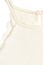 Scallop-edged top - Natural white - Ladies | H&M GB 4