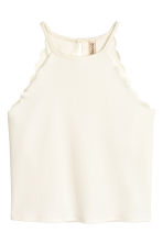 Scallop-edged top - Natural white - Ladies | H&M GB 3