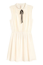 Sleeveless dress - Natural white - Ladies | H&M CN 2