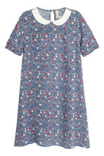 Patterned dress - Dark blue/Small floral - Ladies | H&M CN 2