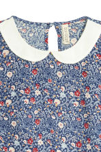 Patterned dress - Dark blue/Small floral - Ladies | H&M CN 3