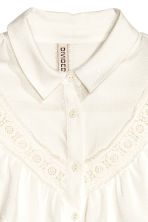 Frilled blouse - Natural white - Ladies | H&M CN 4