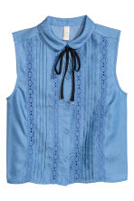 Sleeveless blouse - Blue - Ladies | H&M CN 2