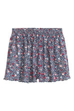 Patterned shorts - Dark blue/Small floral - Ladies | H&M CN 2