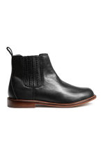 Leather jodhpur boots - Black - Kids | H&M CN 1