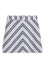 Cotton skirt - Dark blue/Striped - Ladies | H&M CN 2