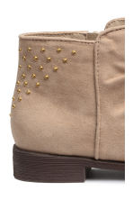 Ankle boots with studs - Light beige - Kids | H&M CN 4